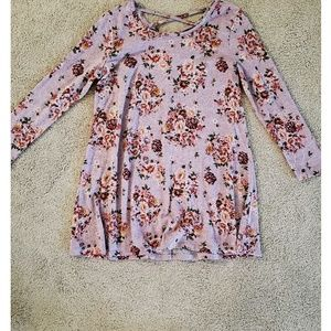 Just Be  Womens Boho Floral Dress